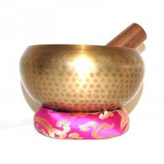 Singing Bowl/Stick/Cushion Machine Made with Beaten Finish - 950-1050g Machine Made Singing Bowl 5 metals cushion  stickMade in NepalWeight  9501050 gDiameter of rim 145 mmDepth 90 mmSinging bowls also known as Himalayan bowls rin gongs medicine bowls Tibetan bowls or suzu gongs in Japan are a type of bell specifically classified as a standing bell Rather than hanging inverte. Please Click the image for more information.