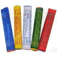 100% Cotton Tibetan Prayer Flags - 5 Mantras/5 Rolls/5 Colours/50 Flags - Large You are buying 5 rolls of Large flags  50 flagsEach roll has10 flags sewn on a string to be hung horizontally5 Col. Please Click the image for more information.