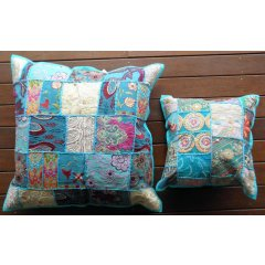 Cushion Cover Vintage Indian Khambadia Embroidery Patchwork Mosaic- 60 x 60 cm Cushion Cover Vintage Indian Khambadia Embroidery Patchwork Mosaic 60 x 60 cmKhambadia design is an embroidery style where small patches are beautifully hand stitched together in a mosaic pattern using multicoloured thread beads and sequins  V. Please Click the image for more information.
