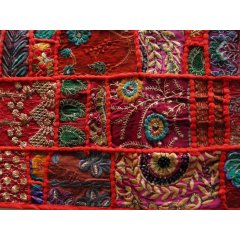 Table Runner Vintage Indian Khambadia Embroidery Patchwork Mosaic-100 x 30 cm Table Runner Vintage Indian Khambadia Embroidery Patchwork Mosaic 100 x 30 cm  6 ColoursKhambadia design is an embroidery style where small patches are beautifully hand stitched together in a mosaic pattern using multicoloured thread beads and sequins  Vibr. Please Click the image for more information.