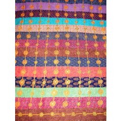 Quality100%Cotton Patchwork Hand Embroidered Double Bed Cover w Mirrors-Brown Quality100Cotton Patchwork Hand Embroidered Double Bed Cover w MirrorsBrownThis beautiful Hand Made Bed cover is a striking work of patchwork quilting and embroidery using Chain Stitch spirals to hold small mirrors in place  The . Please Click the image for more information.