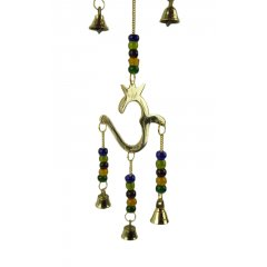 Wind Chime/Hanging - Brass, Triple Om with Beads and Bells - Spiritual Unity Om Wind ChimeHanging  3 x Brass Om Symbols 7 Brass bells  coloured beads The Om symbol is a sacred symbol seen everywhere as an expression of spiritual perfection and unity Om M. Please Click the image for more information.
