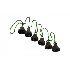 Wind Chime/Hanging Antique Style Bells on Green Cord - Energy & Prosperity This lovely string of 6 Antique Style Bells on Green string would help add positive Feng Shui to your home. Please Click the image for more information.