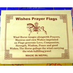 Wishes Prayer Flags Wind Horse - Your Message from the Heart 5 Rolls/50 Flags Tibetan Prayer FlagsBuddhist belief is strong in the power of these sacred flags The colours of a prayer flag and the symbols printed on it create a prayer or an offering that the wind distributes to the world each time it brushes against the flag Ju. Please Click the image for more information.