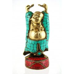 Happyman Bronze Statue - Mosaic -16.5cm - 1.10K - Made in India This statue is part of a range of Bronze Statues Bells Singing Bowls Chimes  Locks handcrafted in India using the Lost Wax methodEarlie. Please Click the image for more information.