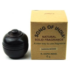 Wood Jars Song of India Natural Fragrant Solid Creme Perfume-6gm - 6 fragrances  Wood Jars Song of India Natural Fragrant Solid Creme Perfume 6gm  6 fragrances  These jars have been hand made with the best Sheesham Barks shaped by artisans on a small Lathe machine  hand tools then finely sanded  polished to enhance the natural colour and grainsNo two. Please Click the image for more information.