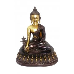 Medicine Buddha Bronze Statue -Supreme Healer of Physical & Mental Illness A Beautiful Bronze Medicine Buddha Statue with a striking 2 tone finishHeight  26 cm Width  23 cmBase  23 x 145 cm Weight  32 . Please Click the image for more information.