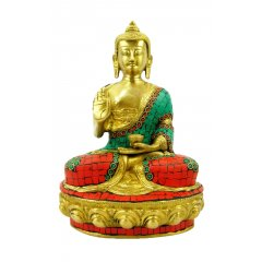 Bronze Meditation Buddha Statue w Stone Mosaic Design Peace & Protection -2.7Kg This beautiful Bronze Buddha sits in the Meditation pose and has been decorated with a striking stone Mosaic designTh. Please Click the image for more information.