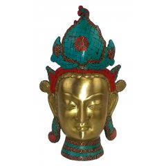 Beautiful Goddess Tara Bronze Head with Stone Mosaic Work Compassion - 3.5 KG Beautiful Bronze Tara Head Statue with striking Stone Mosaic work Goddess Tara a female Buddha and meditation deity is one of the most popular goddess in the Buddhism She is. Please Click the image for more information.