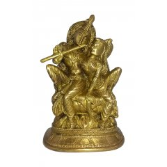 Radha & Krishna Bronze Statue - Embodies Love, Passion & Devotion - Buddhism This RadhaKrishna is part of a range of Traditional Bronze statues symbolizing the beauty magnificence and charm of Indian heritage Exc. Please Click the image for more information.