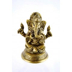 Ganesh 'Lost Wax' Bronze Statue - 7cm - 196g - Made in India Ganesh Lost Wax Bronze Statue  7cm  196g  Made in IndiaThe son of Shiva and Parvati Ganesha has an elephantine countenance with a curved trunk and big ears and a huge potbellied body of a human being He is the. Please Click the image for more information.