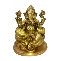 Beautiful Bronze Hindu Ganesha with Pillow Statue Study, Wisdom & Wealth  This Ganesha is part of a range of Traditional Bronze statues symbolizing the beauty magnificence and charm of Indian heritage Ex. Please Click the image for more information.