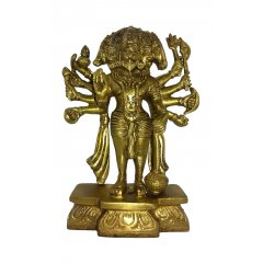 Lord Hanuman Bronze Statue - Hindu Monkey God-Strength, Perseverance & Devotion This 5 Faced Hanuman is part of a range of Traditional Bronze statues symbolizing the beauty magnificence and charm of Indian heritage Ex. Please Click the image for more information.