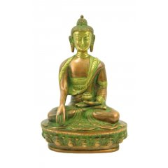 "Buddha Sakyamuni,  ""The Enlightened One"" Two Tone Bronze Statue 20cmH/1.5K Buddha Sakyamuni The Enlightened One with beautiful two tone BronzeGreen finishSakyamuni the sage of the SakyasThis form shows the Buddha in the moment he reached enlightenment as depicted by the groundtouching positionHeight  20 cm Width  135 c. Please Click the image for more information."