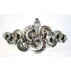 Australian Made Pewter STG Silver Plated Snake Hair Clip  Pewter Core with quality STG Silver Plating Finish This beautiful hair clip is functional durable and eye catching with a strong spring clip on the backSize. Please Click the image for more information.