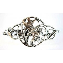 Australian Made Hair Clip Dragonfly Garden Pewter Core with quality STG Silver Plating Finish This beautiful hair clip is functional durable and eye catching with a strong spring clip on the backSize. Please Click the image for more information.