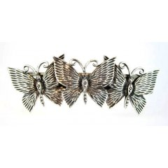 Australian Made Hair Clip Butterflies Pewter Core with quality STG Silver Plating Finish This beautiful hair clip is functional durable and eye catching with a strong spring clip on the backSize. Please Click the image for more information.
