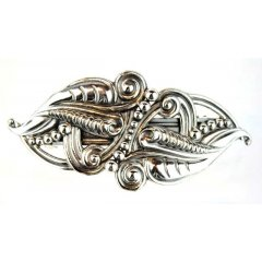 Australian Made Hair Clip Curly Pewter Core with quality STG Silver Plating Finish This beautiful hair clip is functional durable and eye catching with a strong spring clip on the backSize. Please Click the image for more information.