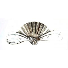 Australian Made Hair Clip Sun Dragonfly  Pewter Core with quality STG Silver Plating Finish This beautiful hair clip is functional durable and eye catching with a strong spring clip on the backSize. Please Click the image for more information.