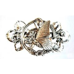 Australian Made Hair Clip Butterfly Garden Pewter Core with quality STG Silver Plating Finish This beautiful hair clip is functional durable and eye catching with a strong spring clip on the backSize. Please Click the image for more information.