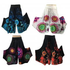 New Print Funky Pants 100% Cotton Stretch Lycra Roll Waist Hippy, Boho, Gypsy Top Selling Funky PantsNew Season PrintsA lovely cool and stylish look for Summer that is flattering for a wide range of body shapesThese p. Please Click the image for more information.
