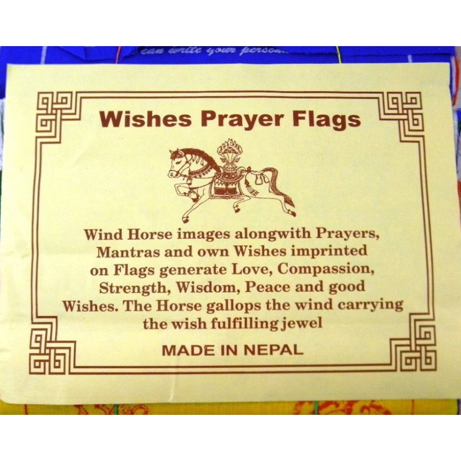 Wishes Prayer Flags Wind Horse Your Message From The Heart 5 Rolls