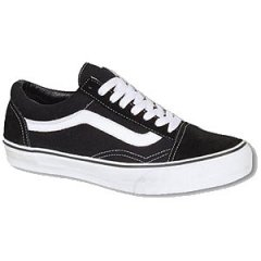 Vans Old Skool Black Shoes The Old Skool Vans classic skate shoe and the first to bare the iconic side stripe has a lowtop laceup silhouette with a durable suede and canvas upper padded tongue and lining and Vans signature Waffle Outsole . Please Click the image for more information.