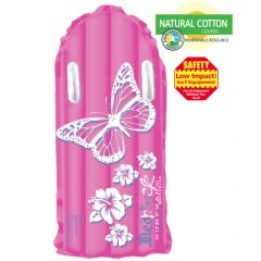 Redback Pink Butterfly Surfmat Bright pink feminine graphics add a sense of fun to this Original styled surfmat Large surface area for added buoyancySurfer friendly cotton fabric top to minimise rashingLarge twin handles for excellent grip133cm Please Click the image for more information.