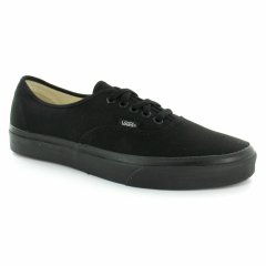 Vans Authentic Black/Black Shoes The Sport Vintage Authentic Vans original and now iconic style has a durable low top laceup canvas upper with matching laces metal eyelets and foxing stripe along with Vans flag label and Vans Original Waffle Outsole Vans . Please Click the image for more information.