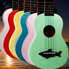 Makala Shark Ukulele Sound and playability usually suffer at these affordable prices but not with Makala These ukes have a fantastic sound great looks and are easy on the wallet A. Please Click the image for more information.