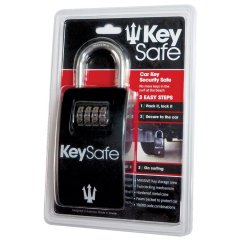 Far King Key Safe Features  Surf Hardwear Hard metal case  Large key storage area  Twin locking mechanism Foam backed to protect car 10000 code combinations Full usage instructions on back of package Colour BlackLength of compartment 142cm 53  Width of compartment 8cm 3. Please Click the image for more information.
