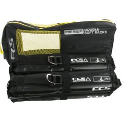 FCS Premium Soft Racks Double   Holds 16 shortboards 14 longboards Fits most vehicles Square nonrolling pads Heavyduty 32mm webbing Strong metal buckles Reinforced PVC panels prevent wax buildup on pads Quick and simple to use No installation required Comes package. Please Click the image for more information.