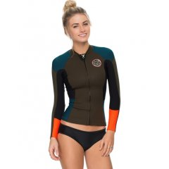 Rip curl Dawn Patrol LS Jacket  Length 55cm Neoprene fabrication High neckline Zipthrough front Long sleeves logo print on the upper armPLEASE NOTE This product is part of the Rip Curl Fitness   Please Click the image for more information.