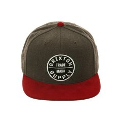 Brixston Oath lii Snap Back  FeaturesMens CapsColour Burgundy  CharcoalMade from Acrylic WoolCustom embroidered patch on frontContrast flat brimEmbroidered eyeletsAdjustable snap backSize GuideMens CapsOne size fits most  back is adjustable Please Click the image for more information.