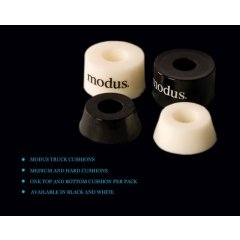 Modus Cushions  Product DescriptionBrand New MODUS SKATEBOARD CUSHIONS SET  CHOOSE HARDNESS  MEDIUM OR HARDChoose Medium Black or Hard WhiteSupport Modus . Please Click the image for more information.