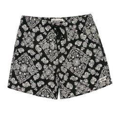 Afends Baywatch Paisley Shorts 100 CottonRelaxed fit Baywatch shorts have an elastic waist and the 16 12 inch outleg sit well above the knee  Fea. Please Click the image for more information.