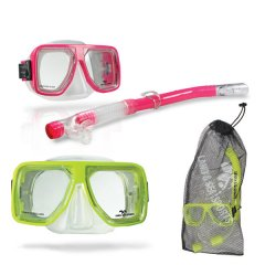 Bermuda Sil Mask Snorkel and Bag A value for money silicone mask  snorkel set Comes with a twin lens mask and a dry tip snorkel This set is presented in a handy reusable mesh bagFeat. Please Click the image for more information.