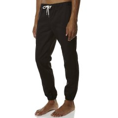 Rhythm Charlie Track Pant Mens Chino PantsColour BlackMade from 100 CottonElastic waistband with externaltie drawcordFour pocket designWoven brand labelsElastic leg cuffs Please Click the image for more information.