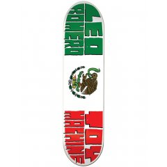 Toy Machine 8.125 Romero Flag Deck The Toy Machine Leo Romero Flag Deck features a Mexican Flag inspiration and pro model board for Leo Romero. Please Click the image for more information.
