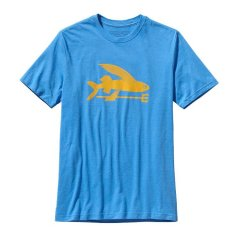Patagonia Flying Fish CottonPoly Tshirt The Flying Fish has become a Patagonia classic now offered in an organic cotton and allrecycled polyester blend TshirtPatag. Please Click the image for more information.