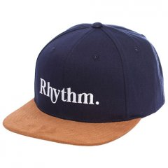 Rhythm Flagship Cap Theres no mistaking the Rhythm Flagship Cap This navy flat peak cap features a tan suede peak embroidered front logo and adjustable snap back Top . Please Click the image for more information.