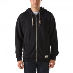 Vans Core Basic Zip Hood The Core Basics Zip Hoodie III made of 60 cotton40 polyester is a 280g fleece fullzip hooded sweatshirt with leather drawcord stoppers and a woven Vans label on the pocket. Please Click the image for more information.