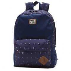 Vans Old Skool 2 Backpack The Old Skool II Backpack is 100 polyester and features one large main compartment a front zip pocket with internal organizer a Vans Off The Wall woven label and has a 22liter capacity. Please Click the image for more information.