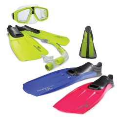 Land and Sea Adventurer Snorkel Set A Great Value Snorkelling Package The Adventurer Set incorporates a sturdy mesh PVC carry Bag Quality full foot thermo blades Fins Comfort fit Silicone Mask and Splash Guard Snorkel with Purge A . Please Click the image for more information.