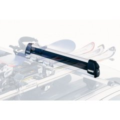 Thule Ski Carrier Deluxe Exclusive aerodynamic design in aluminiumExtra large push buttons make it easy to open the ski carrier with gloves onHeig. Please Click the image for more information.
