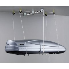 Thule Roof Box Lift Thule Roof Box Lift is great for lifting and storing any load up to 100kg Easy to use wind up system makes everything easy to lift. Please Click the image for more information.