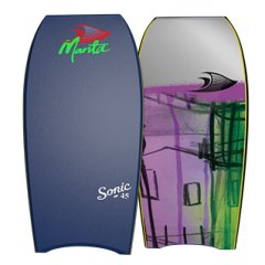"Manta Sonic Bodyboard EPS 45"" Available in 45 Inch The Sonic 45 is made for the Larger Rider  Over 64 or 100kgsThis is a great Low end board specifically targeted toward the big fellasAll you n. Please Click the image for more information."