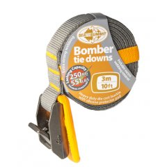 Sea To Summit 3m Bomber Tie Downs  General purpose tie down suitable for all types of canoes kayaks surf boards skis snowboards or the excess trailer loadbFea. Please Click the image for more information.