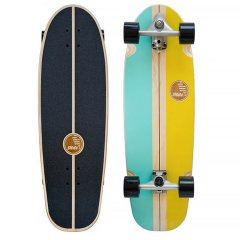 """HB Slide Gussie 31"""" Surf Skate Cruiser Complete Hot Buttered 45 years in the game have brought us the best surfskate weve ever ridden  Featuring their proprietary Slide carve truck system this board blurs the boundary between water and concrete waves  The Gu. Please Click the image for more information."""