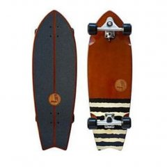 """HB Slide Brown Fish 32"""" Surf Skate Cruiser Complete Hot Buttered 45 years in the game have brought us the best surfskate weve ever ridden  Featuring their proprietary Slide carve truck system this board blurs the boundary between water and concrete waves  Get so. Please Click the image for more information."""
